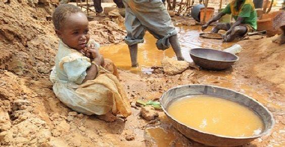 perigosa vida das crianças nas minas de ouro