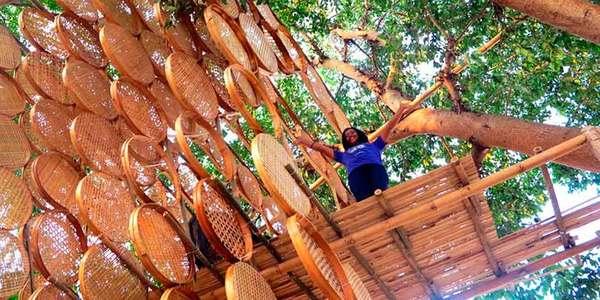 TreeHouse: a casa na árvore em bambu