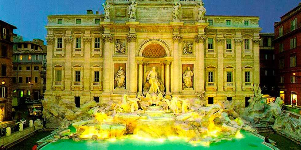 Roma cheias de fontes e historia