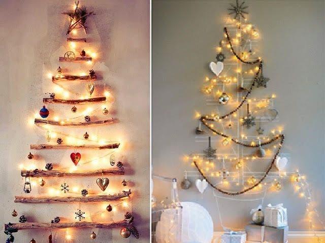 Parede com árvore de Natal
