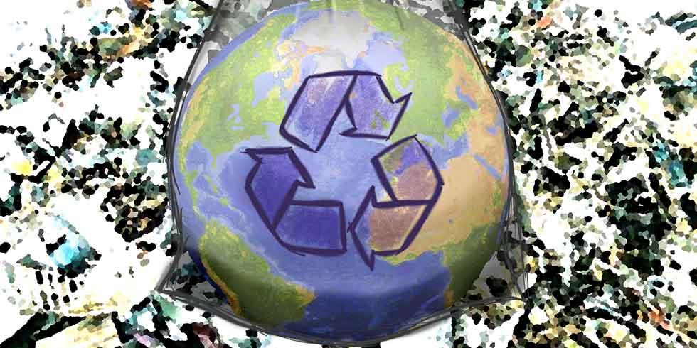 Biodegradável e não-biodegradável