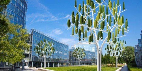árvore que produz energia elétrica em Paris