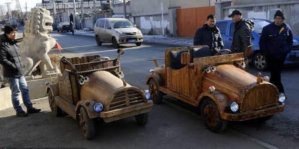 carro elétrico feito à mão