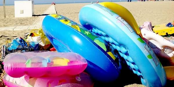 reciclar boias e outros infláveis