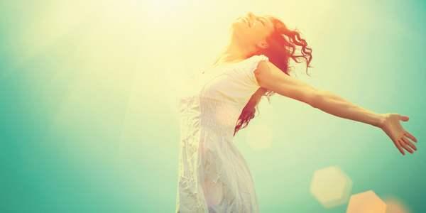 Otimismo e felicidade bom para ao coração
