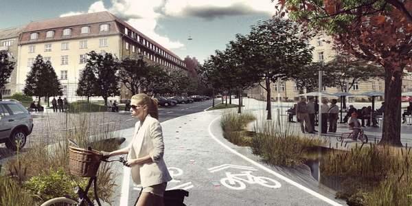 bairro à prova do aquecimento global na Copenhague