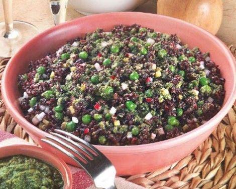 salada arroz preto