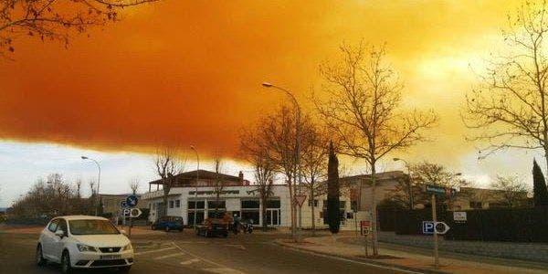 Nuvem tóxica se forma perto de Barcelona