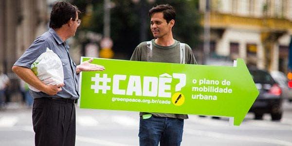 Greenpeace luta pela mobilidade urbana