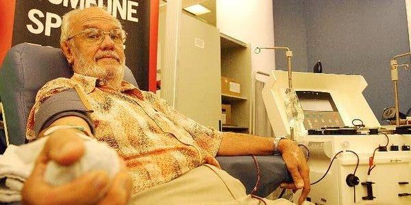 doando sangue salvou a vida de 2 milhões de crianças