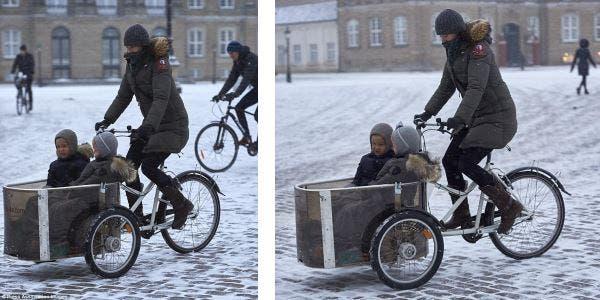 Princesa dinamarquesa de bike
