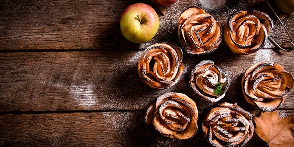 Rosas de maçã