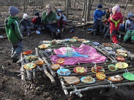 escola crianças floresta 5