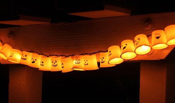luminárias fantasmas