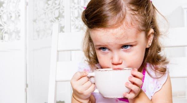 chá para pequenos