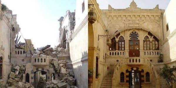 Aleppo antes e depois da guerra