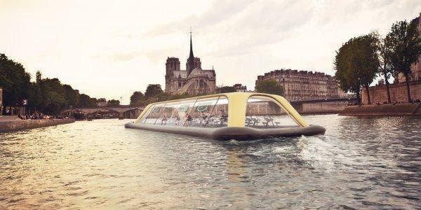 academia sobre o rio Sena