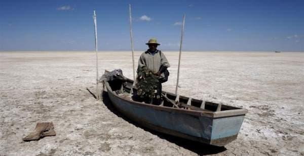 evaporou lago da Bolívia