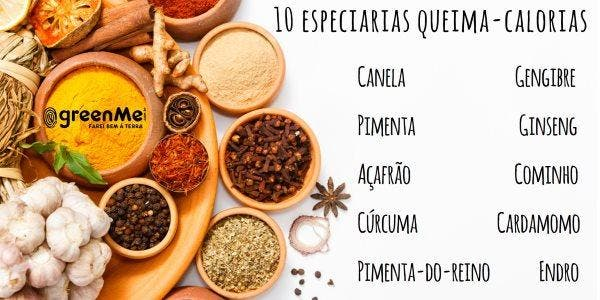 especiarias queima-calorias