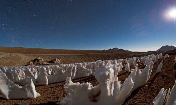 penitentes de gelo