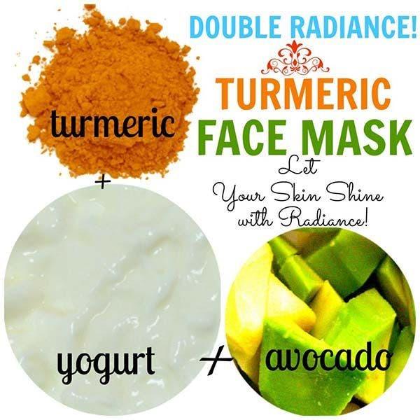 mascara curcuma yogurte avocado