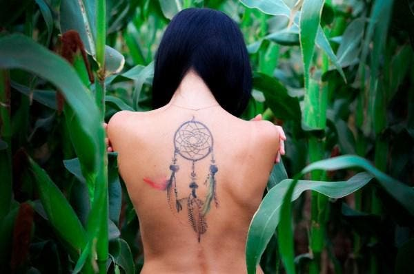 Tatuagem filtro dos sonhos
