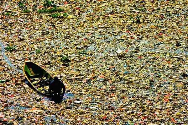 Plástico poluição