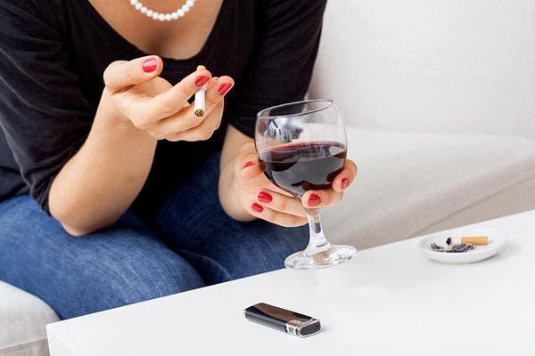 fumar e beber