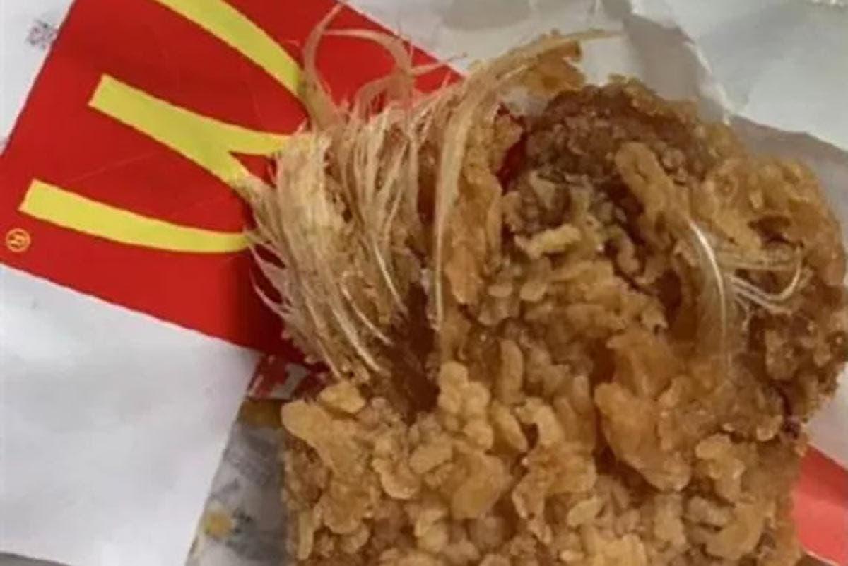 pena de frango McDonald's