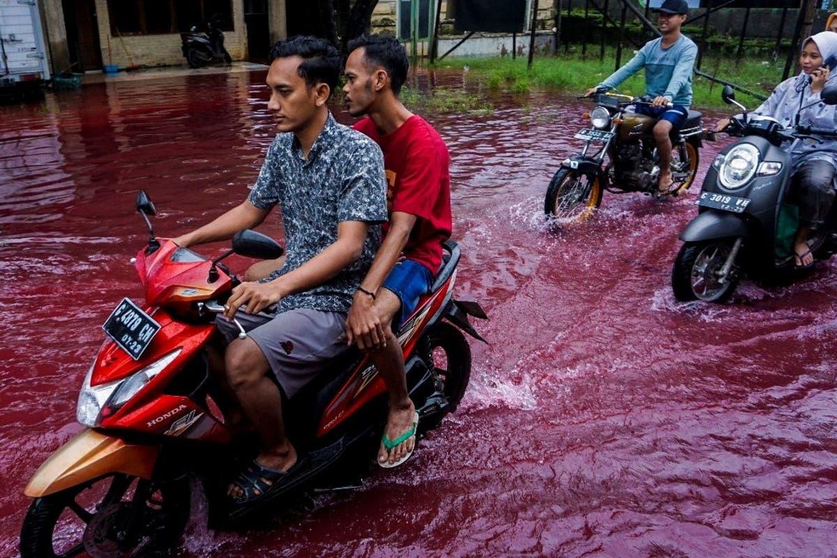 indonesia-rio vermelho
