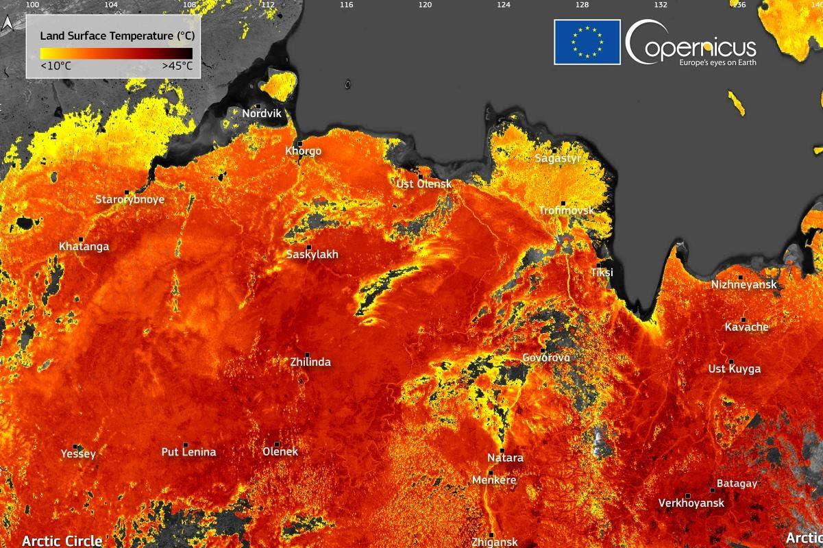 Heat wave Arctic Circle