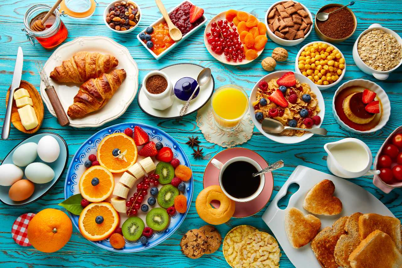 café da manhã alimentos