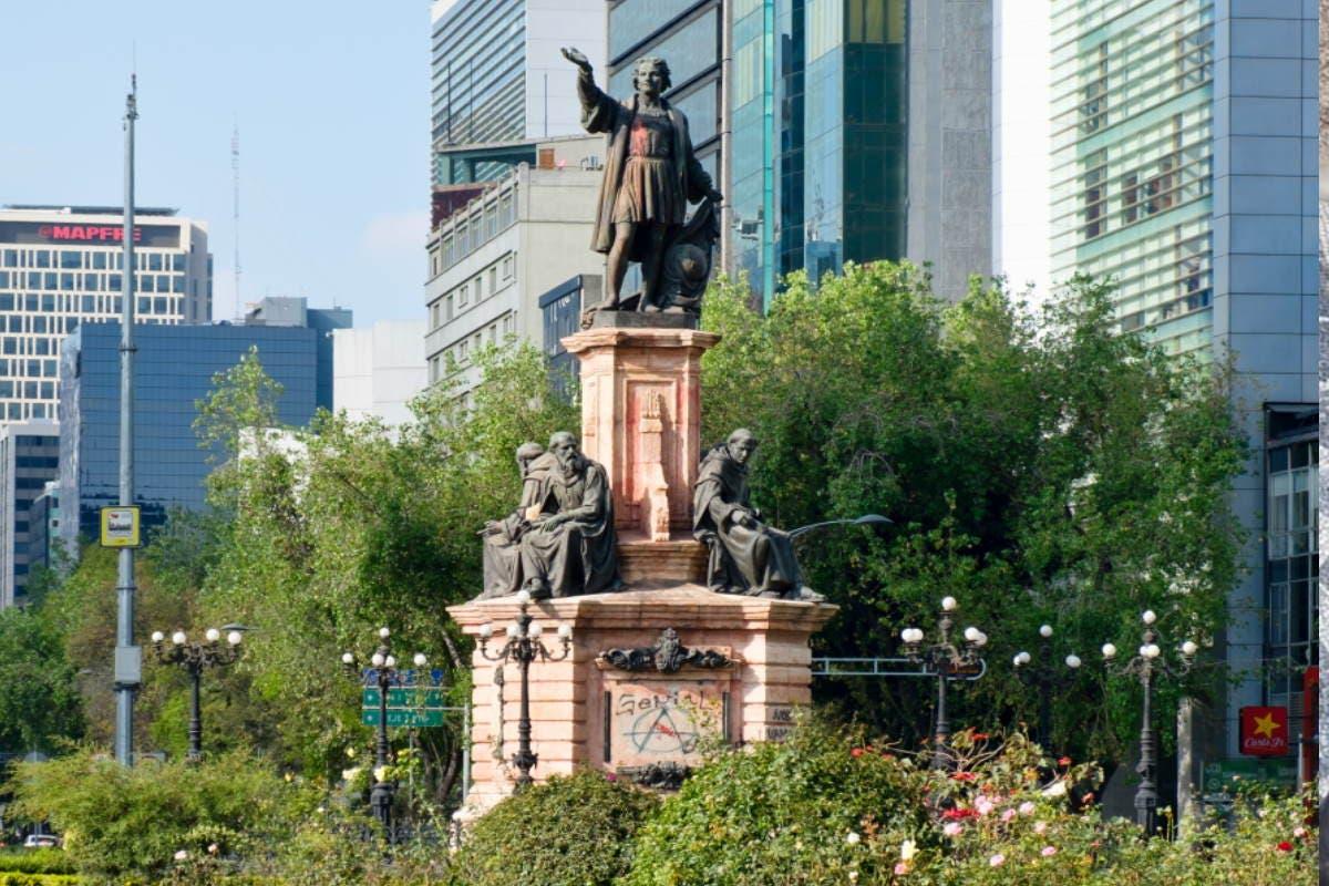 statua colombo messico